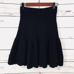 Leifnotes Anthropologie black knit skirt xs